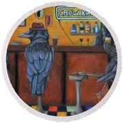 Crow Bar Round Beach Towel by Leah Saulnier The Painting Maniac