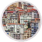 Crowded House Round Beach Towel by Keith Armstrong