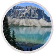 Crowfoot Mountain Round Beach Towel