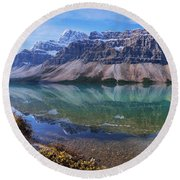 Crowfoot Reflection Round Beach Towel