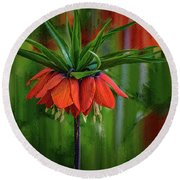 Crown-imperial Abstract #h5 Round Beach Towel