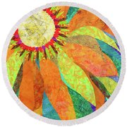 Crown Of Petals Round Beach Towel
