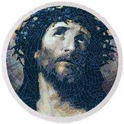 Crown Of Thorns 2 - Ceramic Mosaic Wall Art Round Beach Towel
