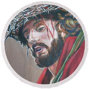 Crown Of Thorns Round Beach Towel by Bryan Bustard