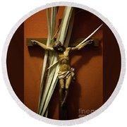 Crucifix Round Beach Towel