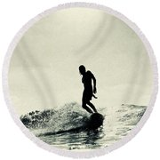 Cruise Control Round Beach Towel