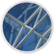 Cruise Ship Abstract Girders And Dome 2 Round Beach Towel