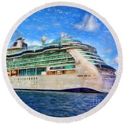 Cruising Thru Life Round Beach Towel