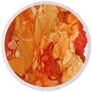 Orange Crush Round Beach Towel