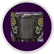 Crusin' With A 32 Desoto Round Beach Towel