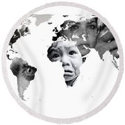 Crying Earth Round Beach Towel