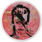Round Beach Towel featuring the painting Crying Hard As A Babe by Jayime Jean