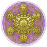 Crystal 1 Round Beach Towel by Robert Thalmeier