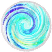 Crystal Blue Persuasion  Round Beach Towel