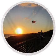 Crystal Cove 4th Of July Round Beach Towel