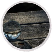 Crystal Frost Round Beach Towel