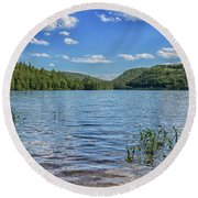 Crystal Lake In Eaton New Hampshire Round Beach Towel