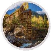 Crystal Mill Morning Round Beach Towel by Darren White