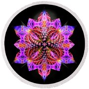 Crystal Petals Round Beach Towel by Kathy Kelly