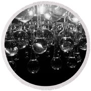 Crystal Reflections Round Beach Towel
