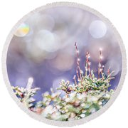 Crystal Silence Round Beach Towel