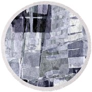 Crystal Silver Round Beach Towel by Tlynn Brentnall