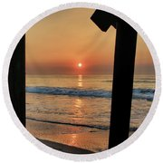 Crystal Sunrise Round Beach Towel