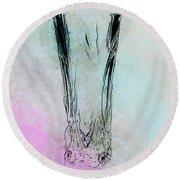 Crystal Vase Round Beach Towel