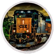 Csx 4226 Round Beach Towel by Marvin Spates