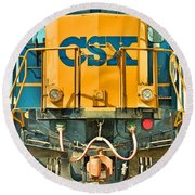 Csx 5938 Round Beach Towel