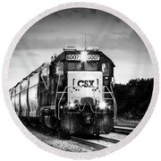 Csx 6007 Round Beach Towel by Marvin Spates