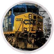 Csx Engine Gaithersburg Md Round Beach Towel