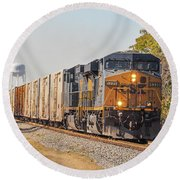 Csx - Tropicana Juice Train Round Beach Towel