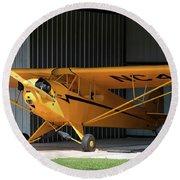 Cub Hangar 0 2017 Christopher Buff, Www.aviationbuff.com Round Beach Towel