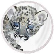 Cub Round Beach Towel by Mark Adlington