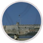 Cuba In The Time Of Castro Round Beach Towel