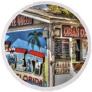 Cuban Coffee Queen Round Beach Towel