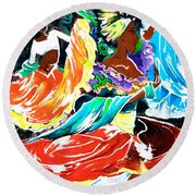 Cuban Dancers - Magical Rhythms... Round Beach Towel
