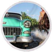 Cuban Horsepower Round Beach Towel