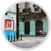 Cuban Icons Round Beach Towel