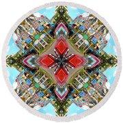 Cuban Kaleidoscope Round Beach Towel