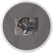Cuban Old Lady Round Beach Towel