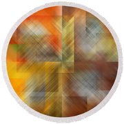 Cubic Space Round Beach Towel