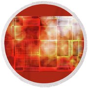 Cubist Round Beach Towel