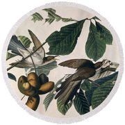 Cuckoo Round Beach Towel by John James Audubon