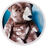 Cuddly Teddy...stuffed Animal Round Beach Towel