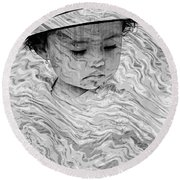 Round Beach Towel featuring the photograph Cuenca Kids 894 by Al Bourassa