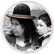 Cuenca Kids 912 Round Beach Towel by Al Bourassa
