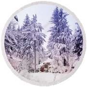 Cul-de-sac Round Beach Towel by Anna Porter