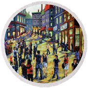 Culture In The Streets By Prankearts Fine Art Round Beach Towel